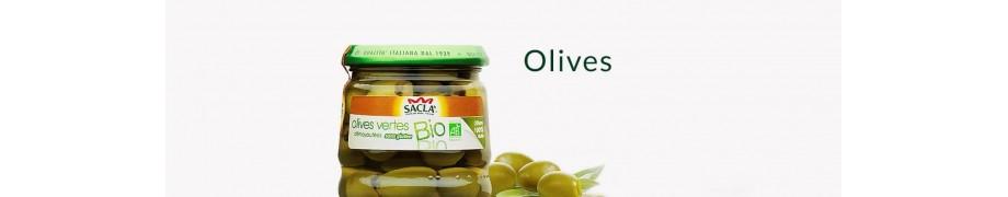 Olives Vertes & Noires Bio Saclà, Antipasti & Produits Bio, Achat